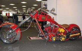 Un modelo diseñado por Paulie (Paul Teutul junior) en honor a los bomberos de Nueva York muertos en el atentado del 11-S. La moto está expuesta en el museo del Cuerpo de Bomberos de la ciudad.