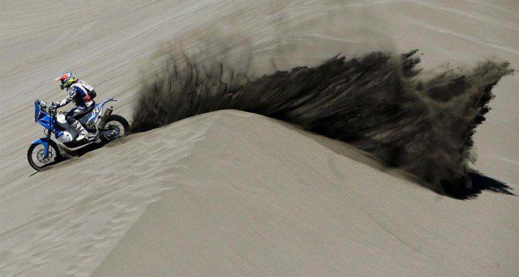 Saliendo de una duna