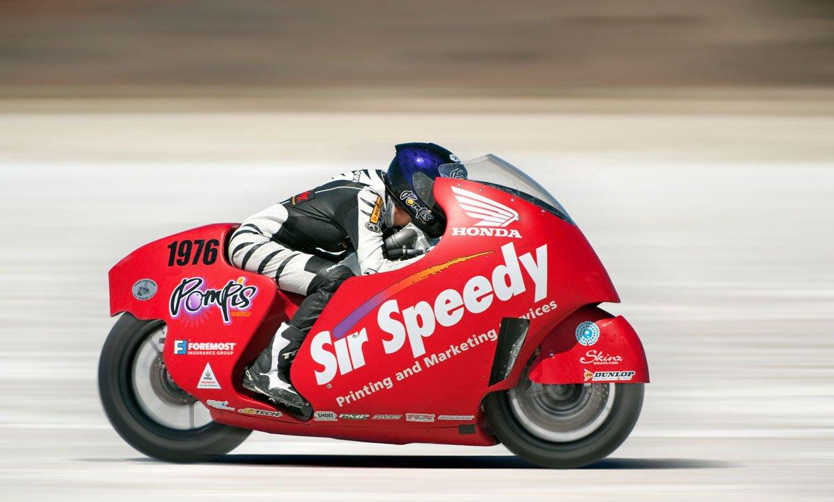 Leslie sobre la Honda CBR1000RR