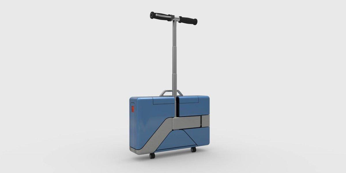 Plegado es una maleta