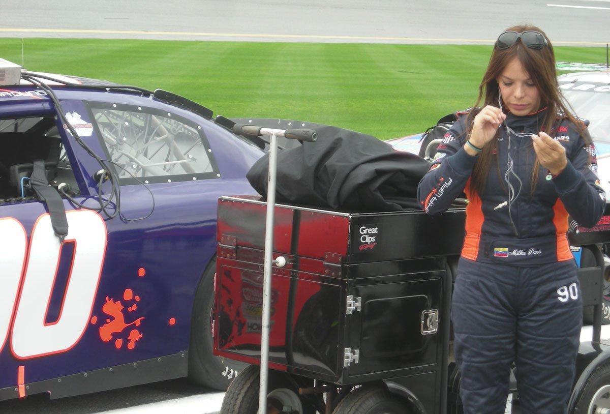 Milka Duno hizo su debut en la Serie American Le Mans