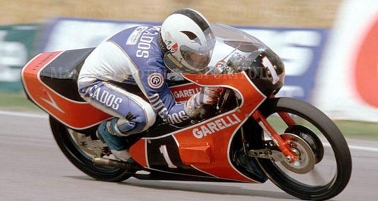 Ángel Nieto y la Garelli de 1983