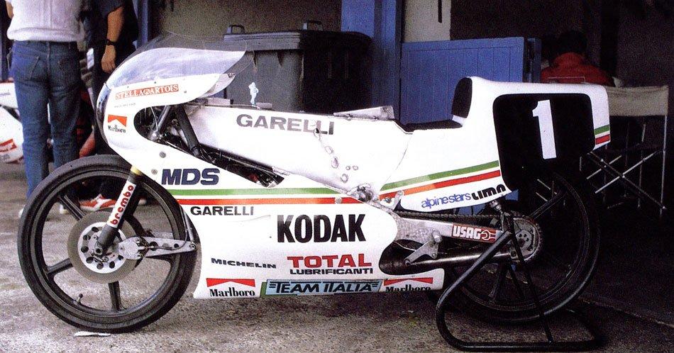 Garelli 125 colores Team Italia