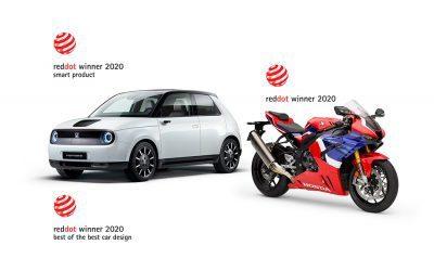 Honda obtiene tres premios de diseño Red Dot 2020 para el Honda e y la CBR1000RR-R Fireblade