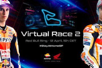 El equipo Repsol Honda se prepara para el segundo GP virtual