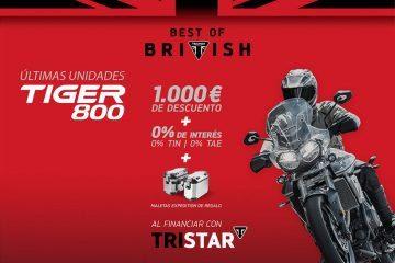 Triumph ofrece las últimas unidades de Tiger 800
