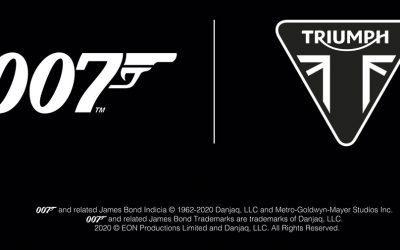 Triumph primera moto oficial 007James Bond