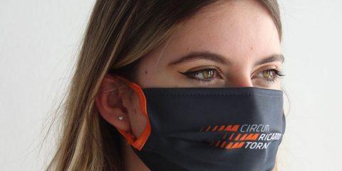 El Circuit Ricardo Tormo pone a la venta mascarillas para colaborar con Cáritas