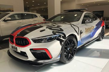 BMW-Barcelona Premium expone los Safety Cars oficiales de MotoGP en sus instalaciones