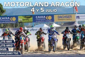 El Campeonato de España de Motocross se reanudará en MotorLand Aragón